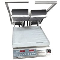 Star PGT14D Pro-Max® 2.0 Double 14 inch Panini Grill with Grooved Aluminum Plates - Electronic Timer