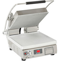 Star PGT14T Pro-Max® 2.0 Single 14 inch Panini Grill with Grooved Aluminum Plates - Electronic Timer