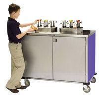 Lakeside 70200 Stainless Steel EZ Serve 8 Pump Condiment Cart with Purple Finish - 27 1/2 inch x 50 1/4 inch x 47 inch