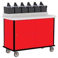 Lakeside 70520 Red Condi-Express 6 Pump Condiment Cart