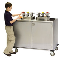 Lakeside 70220 Stainless Steel EZ Serve 4 Pump Condiment Cart - 27 1/2 inch x 33 inch x 47 inch