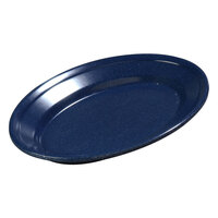 Carlisle 4356335 Dallas Ware 9 1/4 inch x 6 1/4 inch Cafe Blue Oval Platter 24 / Case