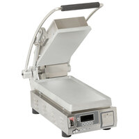 Star PST7T Pro-Max® 2.0 Single 9 1/2 inch Panini Grill with Smooth Aluminum Plates - Electronic Timer