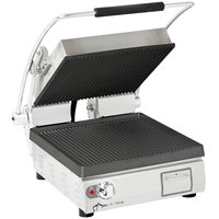 Star PGT28I Pro-Max® 2.0 Single 28 inch Panini Grill with Grooved Cast Iron Plates - Dial Controls