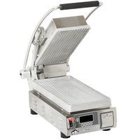 Star PGT7T Pro-Max® 2.0 Single 9 1/2 inch Panini Grill with Grooved Aluminum Plates - Electronic Timer