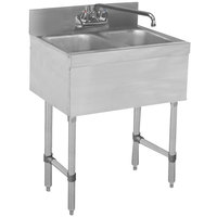 Advance Tabco SLB-22C Lite Two Compartment Stainless Steel Bar Sink - 24 inch x 18 inch