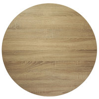BFM Seating SO45R Midtown 45 inch Round Indoor Tabletop - Sawmill Oak Finish
