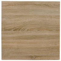 BFM Seating SO2424 Midtown 24 inch Square Indoor Tabletop - Sawmill Oak Finish