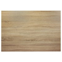 BFM Seating SO3042 Midtown 30 inch x 42 inch Rectangular Indoor Tabletop - Sawmill Oak Finish