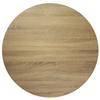 BFM Seating SO24R Midtown 24 inch Round Indoor Tabletop - Sawmill Oak Finish