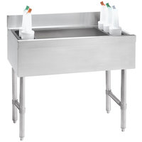 Advance Tabco CRI-12-36-7 Stainless Steel Underbar Ice Bin with 7-Circuit Cold Plate - 36 inch x 21 inch