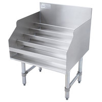 Advance Tabco LD-1812 Stainless Steel Liquor Display Rack - 12 inch x 23 inch