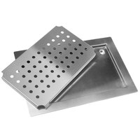 Advance Tabco DP-1824 Stainless Steel Countertop Drain Pan - 24 inch x 18 inch