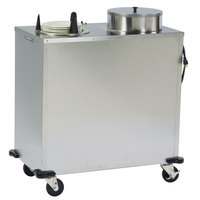 Lakeside E6208 Enclosed Stainless Steel Heated Two Stack Plate Dispenser for 7 3/8 inch to 8 1/8 inch Plates
