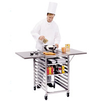 Lakeside 110 Stainless Steel Table with Wings and Sheet Pan Storage - 52 3/4 inch x 29 1/4 inch x 35 inch