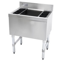 Advance Tabco SLI-16-36-7 Stainless Steel Underbar Ice Bin with 7-Circuit Cold Plate - 36 inch x 18 inch