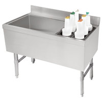 Advance Tabco CRCI-36L-7 Stainless Steel Ice Bin and Storage Rack Combo with 7-Circuit Cold Plate - 36 inch x 21 inch (Left Side Ice Bin)