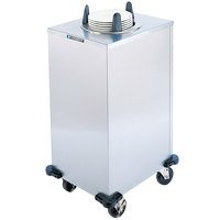 Lakeside 5105 Stainless Steel Enclosed One Stack Non-Heated Plate Dispenser for 5 1/8 inch to 5 3/4 inch Plates