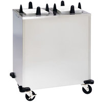 Lakeside S5206 Stainless Steel Enclosed Two Stack Non-Heated Plate Dispenser for 5 inch to 5 3/4 inch Square Plates