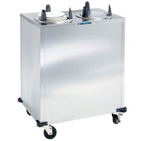 Lakeside 5205 Stainless Steel Enclosed Two Stack Non-Heated Plate Dispenser for 5 1/8 inch to 5 3/4 inch Plates