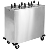 Lakeside 5309 Stainless Steel Enclosed Three Stack Non-Heated Plate Dispenser for 8 1/4 inch to 9 1/8 inch Plates