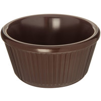 Carlisle S28769 4 oz. Chocolate Brown Fluted Melamine Ramekin - 48/Case