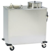 Lakeside E917 Enclosed Stainless Steel Adjust-a-Fit Heated Two Stack Plate Dispenser for 4 1/4 inch to 7 1/2 inch Plates