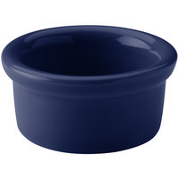 Hall China 30363105 Cobalt Blue 3.5 oz. Colorations Round China Ramekin - 36/Case