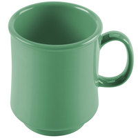 GET TM-1308-FG Diamond Mardi Gras 8 oz. Rainforest Green Tritan Stacking Mug - 24/Case