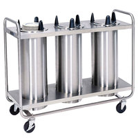 Lakeside 7308 Stainless Steel Open Base Non-Heated Three Stack Plate Dispenser for 7 3/8 inch to 8 1/8 inch Plates