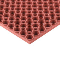 Teknor Apex 439-502 T13 Tek-Tough 3' x 5' Red Grease-Resistant Rubber Mat - 7/8 inch Thick