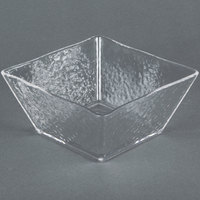 American Metalcraft CRGSQ73 58 oz. Square Clear Rain-Splashed Styrene Bowl