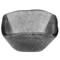 American Metalcraft ORSSBK 2 oz. Black Square Organza Glass Sauce Cup