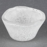 American Metalcraft ORSRW 2.5 oz. White Round Organza Glass Sauce Cup