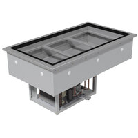 Advance Tabco DIRCP-4 Stainless Steel Four Well Drop-In Refrigerated Cold Pan Unit