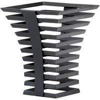 Cal-Mil 1465-10-13 Black Metal Elevation Riser - 8 inch x 8 inch x 10 inch