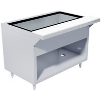 Advance Tabco HDCPU-5-DR Stainless Steel Heavy-Duty Ice-Cooled Table with Enclosed Base and Sliding Doors