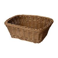 GET WB-1506-H 9 1/2 inch x 7 3/4 inch x 3 1/2 inch Designer Polyweave Honey Rectangular Basket - 12 / Case