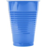 Creative Converting 28145071 12 oz. True Blue Plastic Cup - 240 / Case