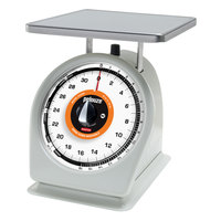 Rubbermaid Pelouze 832RW 32 oz. Portion Scale with Rotating Dial - 9 inch x 9 inch Platform (FG832RW)