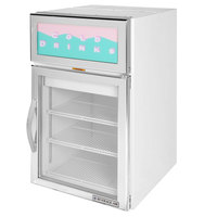 Beverage-Air CR5-1W-G White Countertop Display Refrigerator with Swing Door - 5 cu. ft.