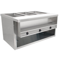 Advance Tabco HDSW-3-BS Stainless Steel Heavy-Duty Three Pan Electric Sealed Table with Enclosed Base - 208/240V
