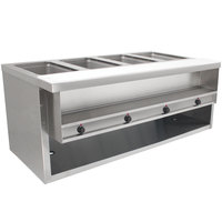 Advance Tabco HDSW-4-BS Stainless Steel Heavy-Duty Four Pan Electric Sealed Table with Enclosed Base - 208/240V