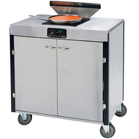 Lakeside 2065 Creation Express Mobile Stainless Steel Cooking Cart with 1 Induction Burner and 1 Filtration Unit - 22 inch x 34 inch x 40 1/2 inch