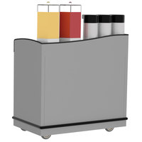 Lakeside 8708 Stainless Steel Full-Service Hydration Cart with Adjustable Universal Ledges - 44 3/4 inch x 25 3/4 inch x 42 1/2 inch