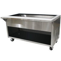 Advance Tabco HDCPU-6-BS Stainless Steel Heavy-Duty Ice-Cooled Table with Enclosed Base