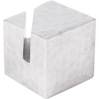 American Metalcraft HCHS1 7/8 inch Square Hammered Aluminum Card Holder with Angled Cut