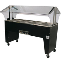 Advance Tabco B4-120-B Open Base Everyday Buffet Stainless Steel Four Pan Electric Hot Food Table - Open Well