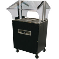 Advance Tabco B2-B-SB Enclosed Base Everyday Buffet Stainless Steel Two Pan Electric Hot Food Table - Open Well, 120V