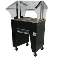 Advance Tabco B2-B Open Base Everyday Buffet Stainless Steel Two Pan Electric Hot Food Table - Open Well, 208/240V